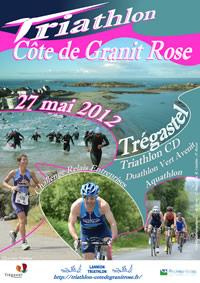 affiche du triahtlon Côte de Granit Rose 2012